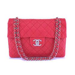 Rare Chanel Fuchsia Pink Soft Caviar Maxi Classic Flap Bag SHW