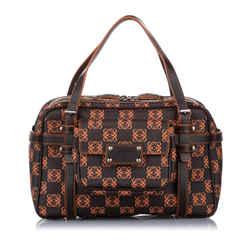 Black Loewe Amazona Leather Handbag Bag