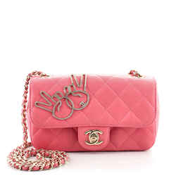 Emoticon Classic Single Flap Bag Quilted Lambskin Extra Mini