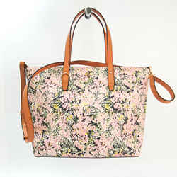 Tory Burch Floral Women's Leather,PVC Shoulder Bag,Tote Bag Brown,Multi BF532846