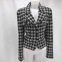 St John Black Knit Blazer 14