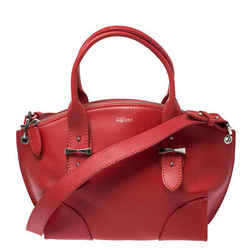 Alexander McQueen Red Leather Small Legend Tote
