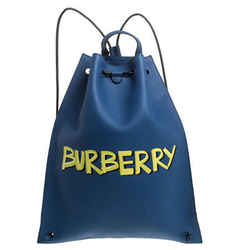 Burberry Blue Leather Bobby Backpack