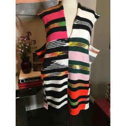 Missoni Size 42 Black White V Neck Sleeveless Wool  Knit Top - 385-385-122719