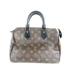 Louis Vuitton Macassar Monogram Speedy 25 Black 14L1016