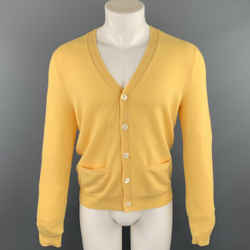 Ralph Lauren Size S Yellow Cashmere Buttoned Cardigan