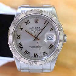 Rolex Datejust Silver Roman Dial Turn-o Graph 36mm