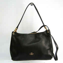 Coach Luxury Pebbled Leather F28966 Women's Leather Shoulder Bag Black BF521504
