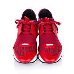 Red Balenciaga Race Runner Monochrome Nylon Sneaker