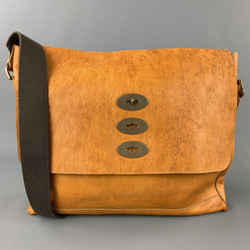 MULBERRY Brynmore Mustard Khaki Distressed Leather Messenger Bag