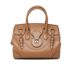 Ralph Lauren Tan Leather Ricky 37 Tote