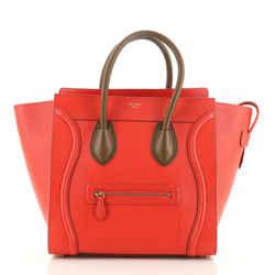 Bicolor Luggage Bag Leather Mini