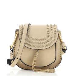 Hudson Handbag Whipstitch Leather Small