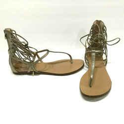 $350 Sigerson Morrison Braze Gold Leather Gladiator Sandal Ankle Tie Sz 10 40