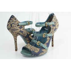 Dolce & Gabbana Floral Print Strap Pumps
