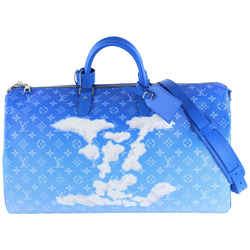 Louis Vuitton Blue Monogram Clouds Keepall Bandouliere 50 Duffle Bag Strap 24LVS1210