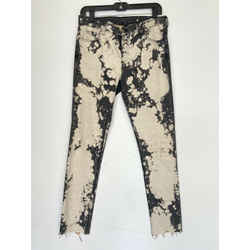 $890 Gucci Runway Bleached Tie Dye Gray Embroidered Floral Skinny Jeans Sz 29