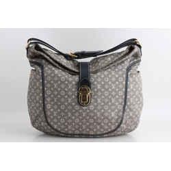 Louis Vuitton Romance Idylle Encre Mini Lin Monogram Hobo Bag - Grey With Blue Trim