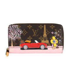 Louis Vuitton Vivienne Christmas Animation Monogram Canvas Zippy Wallet