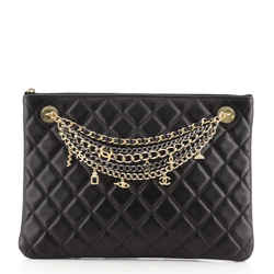 Egyptian Amulet O Case Clutch Quilted Lambskin Medium