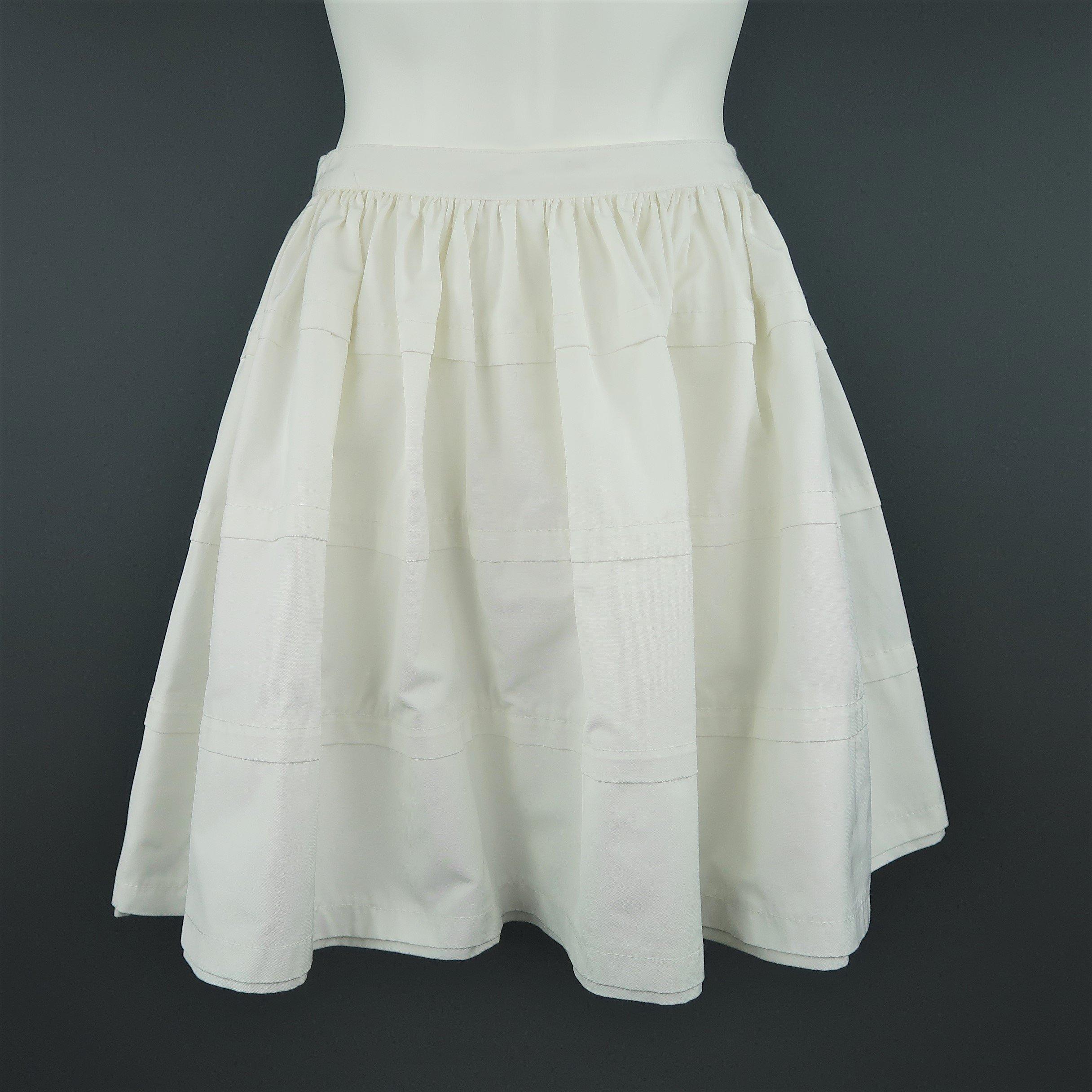 VALENTINO vintage grey mini skirt black dots  Valentino Night