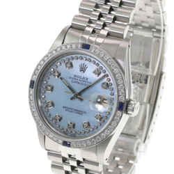 Rolex Men's Watch 36mm Datejust SSteel Ice Blue MOP Diamond Diamond Bezel