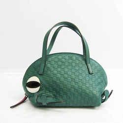 Gucci Guccissima Children Frog 340620 Boys,Girls GG Leather Handbag Gre BF530760