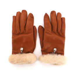 Princess Gloves Lambskin with Fur and Metal