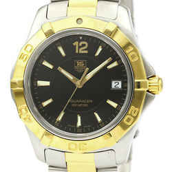 Polished TAG HEUER Aquaracer 300M Gold Plated Steel Mens Watch WAF1123 BF531817