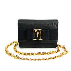 Salvatore Ferragamo Vara Ribbon AQ213202 Women's Leather Shoulder Bag N BF519946