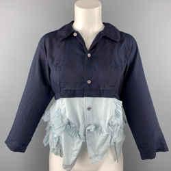 COMME des GARCONS Size XS Navy Cotton Blend Dress Top