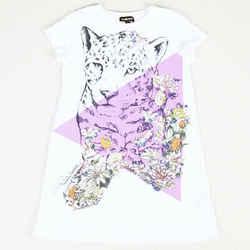 Roberto Cavalli Leopard Floral Print Dress Girl's SZ: 7