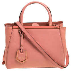 Fendi Peach Leather Small 2Jours Tote