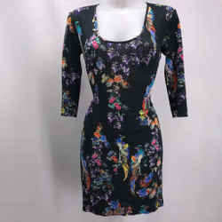 Just Cavalli Black Printed Dress Medium