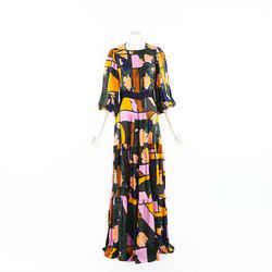 Roksanda Gown Naomi Multicolor Printed Silk SZ 12 UK