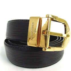 Louis Vuitton Black Epi Noir Belt Ceinture Suntur 872746