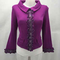 St John Purple Knit Blazer 4