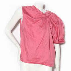 Lanvin Pink One-Shoulder Pouf Sleeve Blouse SS2010