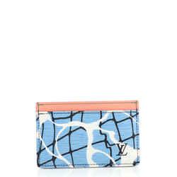 Card Holder Limited Edition Aqua Print Epi Leather