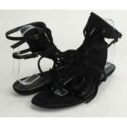 Gucci Becky Suede Fringe Flat Thong Sandal