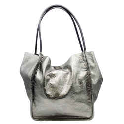 Proenza Schouler Large Metallic Silver Leather Tote