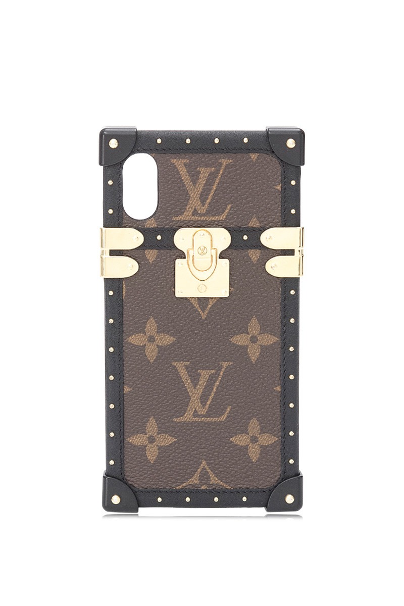 Pre Owned Louis Vuitton Monogram Canvas Eye Trunk Iphone X Xs Case Leprix