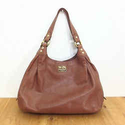 Coach Brown Leather Madison Maggie 3 Section Hobo Shoulder Strap Bag 1013LF