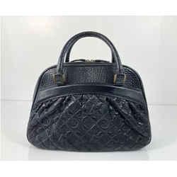 Louis Vuitton Vienna Leather Mizi In Black Satchel Tote Handbag