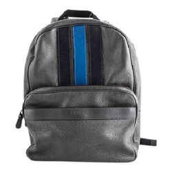 Coach Bond Backpack In Pebble Leather Graphite Midnight Navy Denim