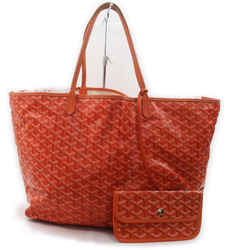 Goyard Orange Chevron St Louis Tote Bag with Pouch 863093