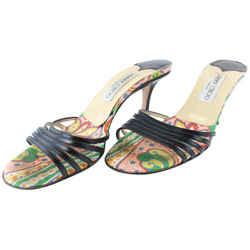 Jimmy Choo Floral Open Toe Sandal Heel 16mz0731