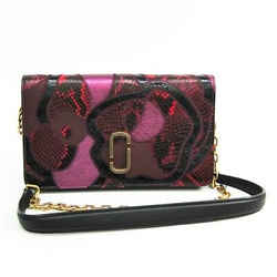 Marc Jacobs Snake Patchwork Wallet On Chain M0008963 Women's  Embossed  Bf331957