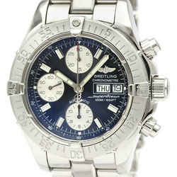 Polished BREITLING Chrono Super Ocean Steel Automatic Mens Watch A13340 BF522658