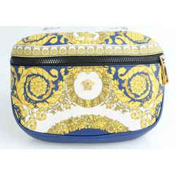 Versace Barocco-Print Leather Belt Bag